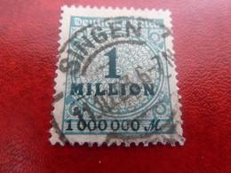 Deutsches Reich - Singen - Val 1 Million - Bleu-vert - Oblitéré - Année 1923 - - Oblitérés