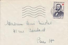 N° 1188 SEUL SUR LETTRE DE PARIS 1958 - 1921-1960: Modern Tijdperk