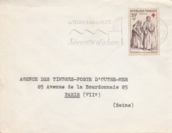 N° 1141 SEUL SUR LETTRE DE PARIS 1958 - 1921-1960: Modern Tijdperk