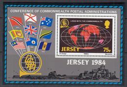 JERSEY, Block 3, Postfrisch **, Konferenz Der Postverwaltungen Des Commonwealth (CCPA), 1984 - Jersey