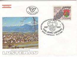 FDC 1987 - Mi 1885 (4) , 1100 Jahre Lustenau , SST 6890 Lustenau - FDC