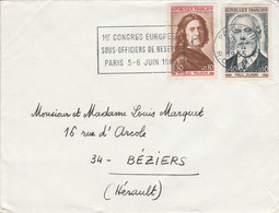 AFFRANCHISSEMENT COMPOSE SUR LETTRE DE PARIS VII 1965 - 1961-....
