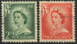 New Zealand, 1954, Queen Elizabeth II, 2-3 P., Used - Used Stamps