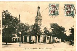CPA AVEC TIMBRES SURCHARGES CANTON - Briefe U. Dokumente