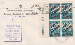 Cuba 1950 FDC - FDC