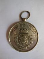 Médaille Souvenir Concours De Manoeuvres De Pompes à Incendie Melun 77 - 28 Mai 1887 - Bomberos