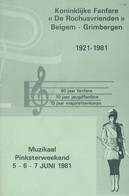 "Kon. Fanfare ""De Rochusvrienden""  Beigem-Grimbergen 1921-1981 - Programas"