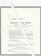 Lichtervelde,  Maria Maes, Jacobs, - Devotion Images