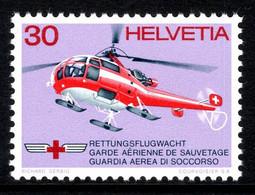 Switzerland 1972 Mountain Rescue Rettungsflugwacht Alouette III MNH ** Helicopter Helikopter - Nuovi