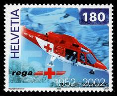 Switzerland 2002 Mountain Rescue Rettungsflugwacht Augusta A-109-K2 MNH ** Helicopter Helikopter - Nuovi