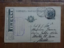 REGNO - Cartolina Postale Con Tassello Pubblicitario + Spese Postali - Entiers Postaux