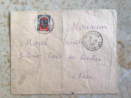 Algérie : Marcophilie ,Lettre Cachet Perlé Bernelle Constantine Pr Nice 1951 - Cartas