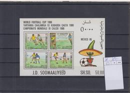 Somalia Michel Cat.No. Mnh/** Sheet 21 Soccer - Somalia (1960-...)
