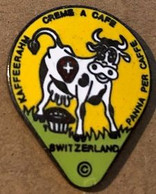 VACHE - KÜH - COW - VACA - MUCCA - COUVERCLE CREME A CAFE - SUISSE - SWITZERLAND - SCHWEIZ - SVIZZERA - SUIZA -     (27) - Animals