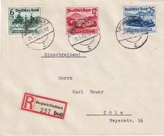 ALLEMAGNE 1939 LETTRE RECOMMANDEE DE BERGISCH-GLADBACH  AVEC CACHET ARRIVEE KÖLN - Cartas