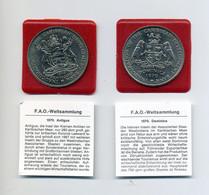 1970 Antigua, Dominica  Zwei FAO Gedenkmünzen $ 4 Caribbean Development Bank ( KM 1, 11) - Other - America