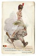 Belgium Defends Itself By Deluge, Manneken Pis - Second World War Comic Postcard, Postmarked 1941 - Guerra 1939-45