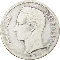 Monnaie, Venezuela, Bolivar, 1954, Philadelphie, TB+, Argent, KM:37 - Venezuela