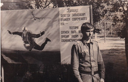 RUSSIA.#6091 PHOTO. THE MILITARY ARE Joking. AVIATION. PARATROOPER. AGITATION. *** - Andere