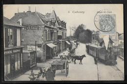 CPA 14 - Cabourg, Route De Caen - Un Train - Cabourg