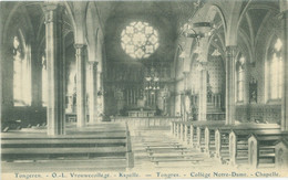 Tongeren 1939; O.-L. Vrouwecollege. Kapelle (Collège Notre-Dame. Chapelle) - Gelopen. (E. Desaix - Bruxelles) - Tongeren