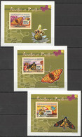 AA1072 IMPERFORATE 2007 DE GUINEE INSECTS BUTTERFLIES BEES 3 LUX BL MNH - Farfalle