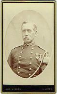 Photo CDV. Militaria. Foto Kirsch, Liège. Militaire Et Décorations. - Oud (voor 1900)