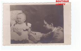Russie Russia Imperatrice Marie Feodorovna Avec Son Fils Futur Empereur Nicolas 2 Cpa Carte Photo Photographie - Russie