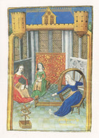 Sewing Carding Spinning Wheel Medieval Woman Painting Postcard - Pittura & Quadri