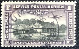 Congo Belge - Belgisch Congo - D2/10 - (°)used - 1921 - Michel 43 - Landschap Met Vliegtuig - Airmail: Used