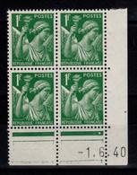 Coin Daté - Iris YV 432 N** Du 1.6.40 , 1 Point - 1940-1949