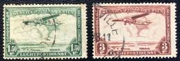 Congo Belge - Belgisch Congo - D2/10 - (°)used - 1934 - Michel 149 -150 - Landschap Met Vliegtuig - Airmail: Used
