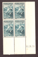 Coin Daté 10.11.38 Du N° 417 - Neuf ** - En Faveur Des étudiants - 1930-1939