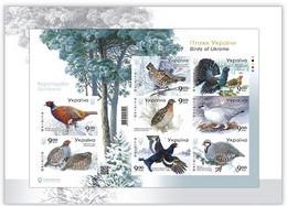 Ukraine 2021 MNH Sheet Block Fauna Birds Imperforated Sheet In Booklet ** New - Ucrania