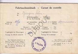 Neufchâteau - Fahrtnachweisbuch - Carnet De Contrôle- Yungers Frères 1941 (V190) - Europa