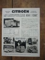 Feuillet Pubicitaire Citroën TUB - Charge 850 Kg Où 1200kg ... Nombreuses Photos - Auto