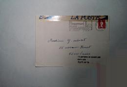 H 7 Lettre /carte /document /entete Accidentée Par La Poste - Lettres Accidentées