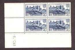 Coin Daté 8.1.40 Du N° 392 - Neuf ** - Remparts De La Cité De Carcassonne - 1930-1939