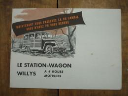 Revue ( Prospectus ) - Willys ....Le Station Wagon - Auto