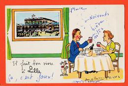 X59208 LILLE Il Fait Bon Vivre à Ajouti Photo Gare 1958 à Antoinette BATIGNE Rue Baron Cachin Castres / Jean De PREISSAC - Lille