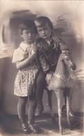 UKRAINE.#6123 PHOTO. PRINT RED LIGHTING KHARKOV. CHILDREN ON A HORSE. *** - Andere