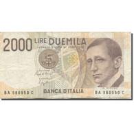Billet, Italie, 2000 Lire, 1990, KM:115, TTB - 2000 Lire