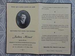 MILITARIA GUERRE 39/45 SAINT LO 50   JULIEN HINET BOMBARDEMENT DE LA PRISON  VICTIME CIVILE DE GUERRE LE 7 JUIN 1944 - Obituary Notices