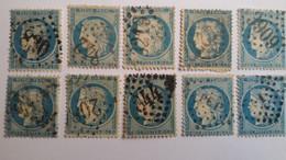 FRANCE - 10 N° 37 + 6 Avec Aminci + 2 Lettres - 7 Photos - 1870 Besetzung Von Paris