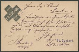 ÖSTERREICH 1896, GS 2 H. FIRMENEINDRUCK SUCHARD UND NAMENSSTPL SUCHARD - Machine Stamps (ATM)