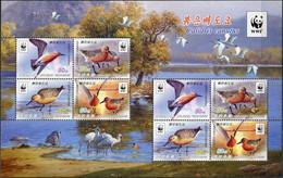 Korea 2015. Red Knot (Calidris Canutus) (MNH OG) Miniature Sheet - Korea (Nord-)