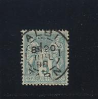 SAGE N° 75  CACHET A DATE  ALBI   / TARN / 20 JUIL. 1898    - REF 1604 - Centré - 1876-1898 Sage (Type II)