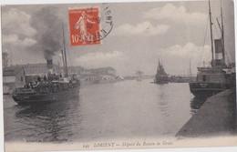 """Bv - Rare Cpa LORIENT - Départ Du Bateau De Groix (bateaux """"Ile De Groix"""" Et """"Port Tudy"""") - Lorient"""