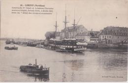 Bv - Cpa LORIENT - Caserne Du 3ème Dépôt Et Le Bateau Clorinthe - Lorient