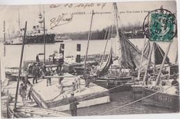 Bv - Cpa LORIENT - L'embarquement Pour Port Louis à Basse Mer (bateau Groix G3609) - Lorient